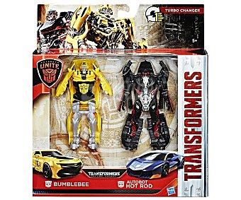 Transformers Conjunto de 2 figuras Transformers, Bumblebee y Autobot Hot Rod, transformers Turbo