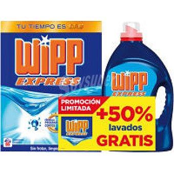 Wipp Express Detergente máquina en polvo Maleta 65 dosis + Wipp Gel