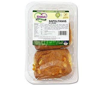 SINBLAT Napolitanas de crema sin gluten 2 Unidades de 150 Gramos
