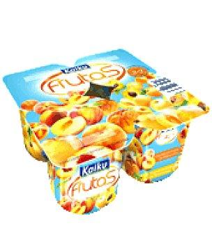 Kaiku Yogur con frutas amarillas melocotón/albaricoque 125gr pack 4 uds Pack de 4x125 g