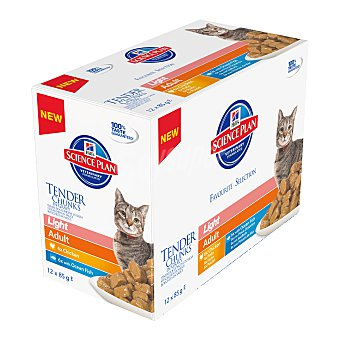 Hill's Science Plan Comida húmeda para gatos adultos Hills Science Plan Light 12x85 gr