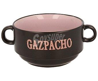 QUID Bol para gazpacho de cerámica gres, serie Rustik, 45 centilitros 1 Unidad