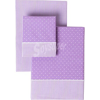 Casactual Topos juego de sabanas bicolor para cama 90 cm
