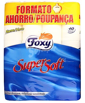 Foxy Papel higiénico súper suave 40 unidades