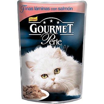 Gourmet Purina Finas láminas con salmón para gato Perle Bolsa 85 g