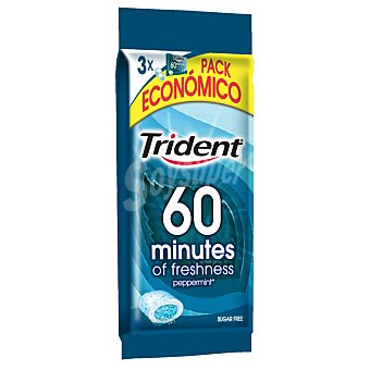 Trident Chicle 40 minutos menta Pack de 3x20 g