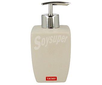 Tatay Dosificador de jabón/gel, serie Thai, fabricado en cerámica blanca 1 unidad