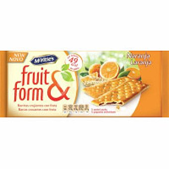 McVities Fruit&form de naranja Caja 195 g