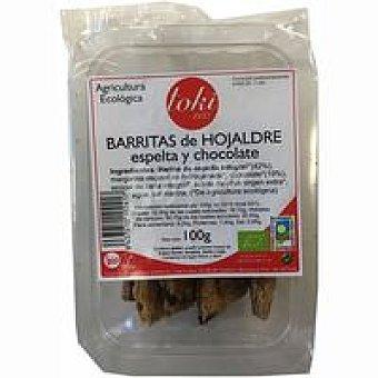 Toki Eco Barrita de hojaldre-espelta-chocolate Paquete 100 g