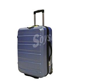 Productos Económicos Alcampo Maleta de 2 ruedas, Rígida, color color azul celeste Medidas: 63x41x26
