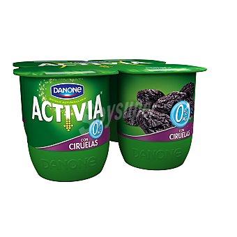 Activia Danone Yogur Activia 0% M.G. con ciruelas Pack 4 x 125 g