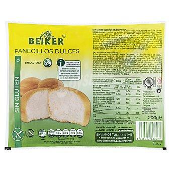 Beiker Panecillo dulce sin gluten industrial Pack 4 u, 200 g