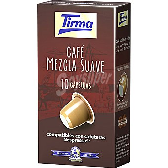 Tirma Cápsulas Café Mezcla Compatibles con Máquinas Nespresso 10 c - Estuche 50 g