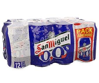 San Miguel Cerveza 0,0 % Sin Alcohol Lata Pack12x33 cl