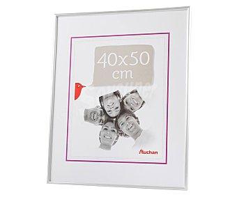 PRODUCTO ALCAMPO 58 Marco de plástico, color plata. Colección Universal. 40x50 cm, para pared alcampo