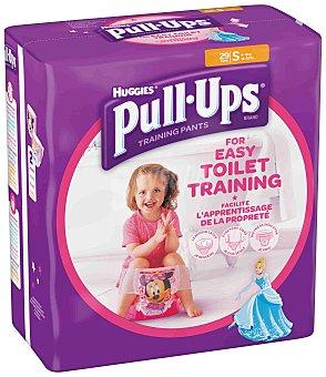 HUGGIES PULL UPS Pañal de aprendizaje para niña - Talla 4 Paquete 29 unid