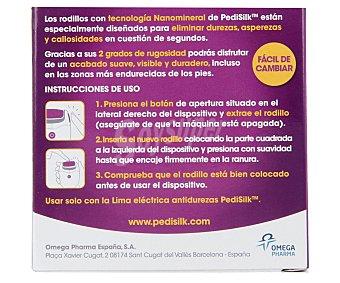 CLENOSAN Rodillos de recambio con rugosidad media y extra para la lima antidurezas Pedi silk 2 unidades
