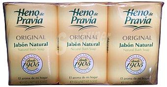 Heno de Pravia Jabón manos pastilla 3 unidades de 150 g (450 g)