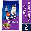 Pienso para gatos esterilizados a base de pollo y cereales integrales 3 kg Brekkies Affinity