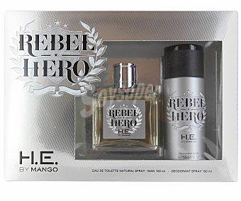 Mango Estuche Rebel Hero: Eau de Toilette 100ml + desodorante 150ml 1 Unidad