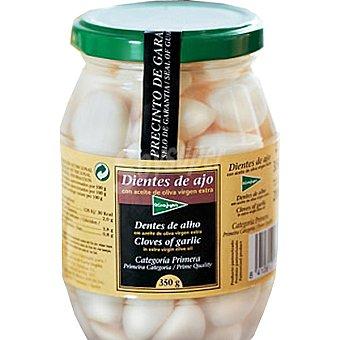 El Corte Inglés Dientes de ajos con aceite de oliva Frasco 200 g neto escurrido