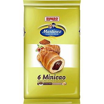 Martínez Bimbo Croissant relleno de crema cacao Minicao Bandeja 240 g