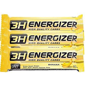 QNT 3h Energyzer Barrita energética sabor banana pack 3 x 80 g estuche 240 g Pack 3 x 80 g