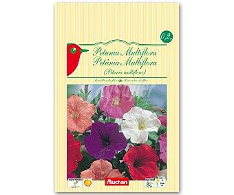 Auchan Semillas para plantar petunias multiflora de diferentes variedades 0.2 Gramos