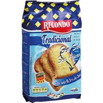 Recondo Pan tostado sin sal-sin azúcar 20 reban., paquete 180