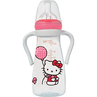 TIGEX Biberón de silicona de Hello Kitty con asas y tetina air control  envase 300 ml