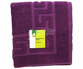 PRODUCTO ECONÓMICO ALCAMPO Alfombra de rizo para baño 100% algodón color berenjena, 50x70 centímetros 1 Unidad
