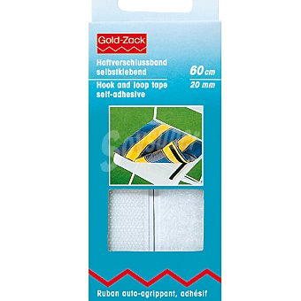 PRYM Velcro adhesivo en color blanco de 60 cm x 20 mm