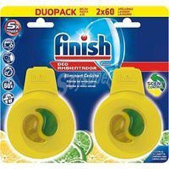 Finish Ambientador lavavajillas limón pack 2 unid.