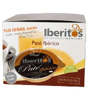 Iberitos Paté Ibérico Pack de 3x70 g