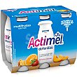 Yogur líquido multifrutas Pack 6 x 100 g Actimel Danone