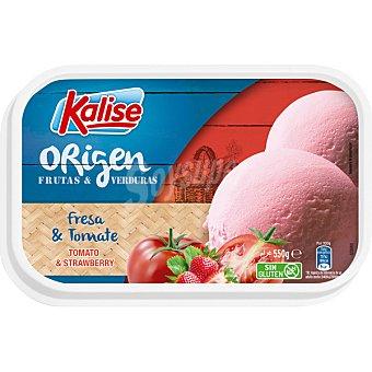 Kalise Origen helado de fresa y tomate sin gluten Tarrina 550 g