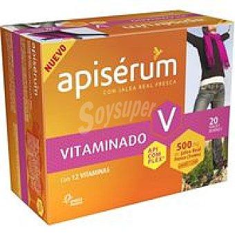 Apiserum Jalea real vitaminado 500 mg Caja 20 unid