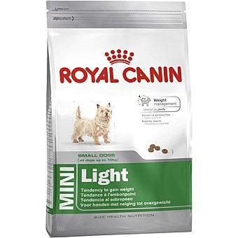 Royal Canin Mini light pienso para perros adultos de razas pequeñas + bolsa 2 kg con tendencia al aumento de peso 10 kg