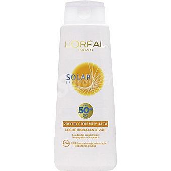Solar Expertise L'Oréal Paris leche solar hidratante 24h FP-50+ resistente al agua frasco 400 ml