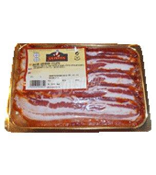 La Pepita Filetes de Bacon adobado Bandeja de 350.0 g.