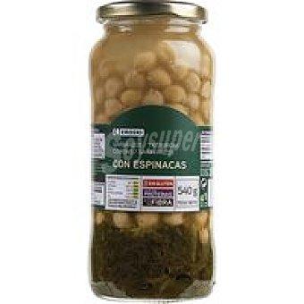 Eroski Garbanzos con espinacas Tarro 350 g