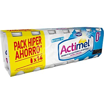 Danone Actimel Actimel natural desnatado 0% para beber Actimel 14 unidades de 100 g