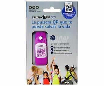 SILINCODE Pulsera SOS color rosa y talla S 1 unidad