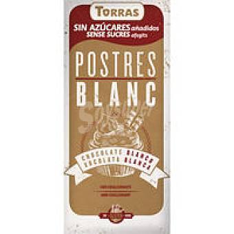 Torras Chocolate blanco sin azúcar para postres Tableta 200 g