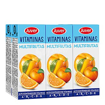 Juver Zumo de multifrutas Vitaminas Pack 6x200 ml