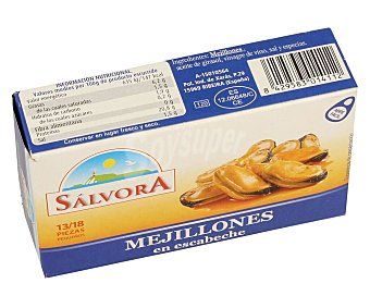 Salvora Mejillones escabeche 13/18 piezas 69 g