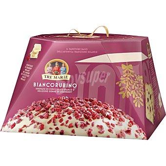 TRE MARIE Biancorubino panettone recubierto de chocolate blanco y pepitas de arándanos  estuche 900 g