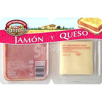 Casa Tarradellas Jamón y queso especial para sándwich Envase 232 g