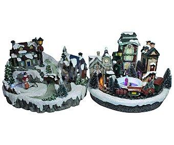 Actuel Maqueta de un escenario de cuento de navidad de 15.5cm con luces y movimiento, actuel