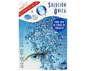 Iris Line Solución para limpiar, desinfectar y lubricar todo tipo de lentes de contacto, 60ml
